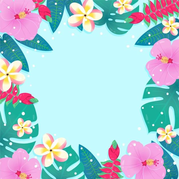 Letnia Tapeta Z Kwiatami Darmowych Wektorów