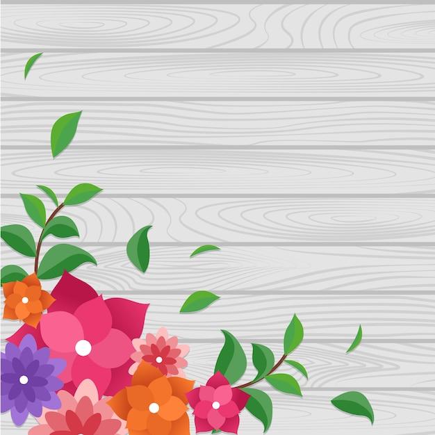 Letnia Wiosna Kwitnący Kwiat Natura Ramki Na Desce Premium Wektorów
