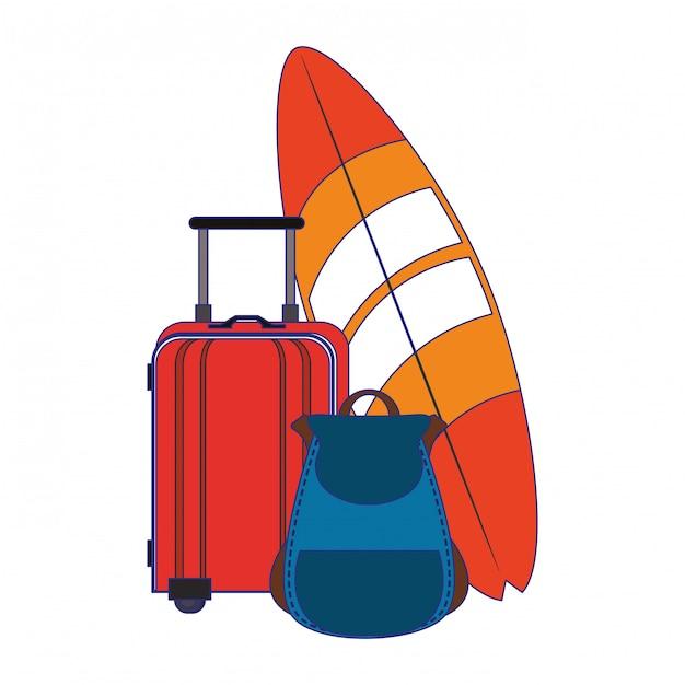 Letnie i plażowe bajki Premium Wektorów
