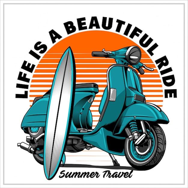 Letnie Podróże Premium Wektorów