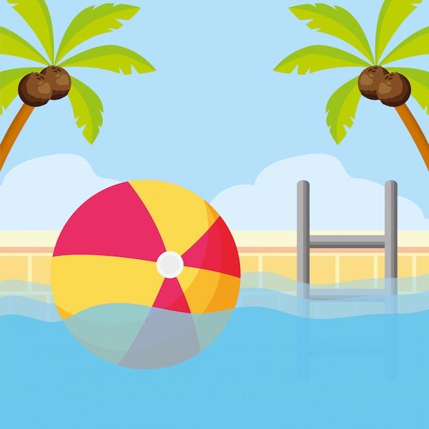 Letnie wakacje Premium Wektorów