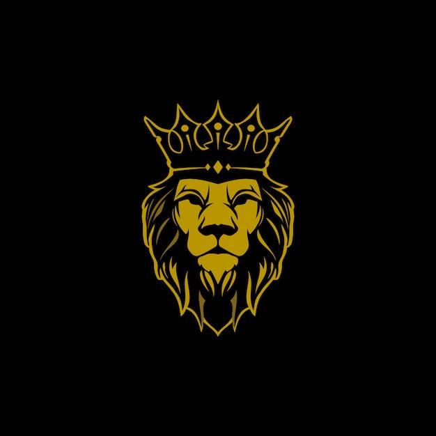 Lew Z Logo Korony Premium Wektorów