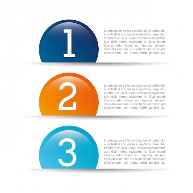 Liczby projektują nad białą tło wektoru ilustracją Premium Wektorów