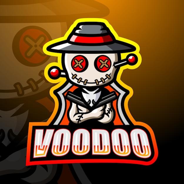 Lillustration Esport Maskotka Voodoo Premium Wektorów
