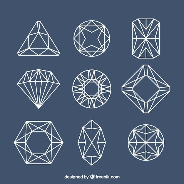 Lineal Szlachetne Kamienie Z Różnych Wzorów Darmowych Wektorów