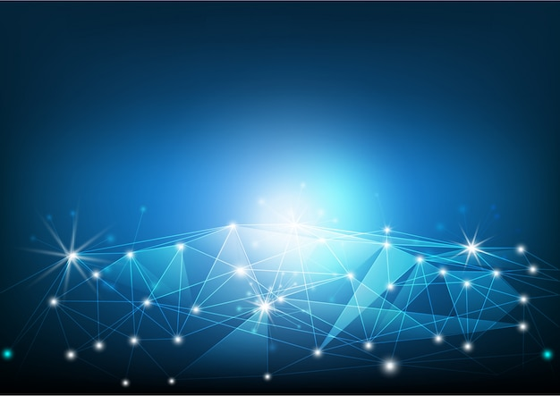 Linia sieciowa na ziemi, komunikacja technologiczna i globalna koncepcja połączenia z internetem Premium Wektorów