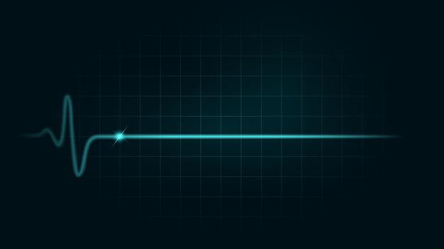 Linia tętna podczas martwego na zielonym wykresie Premium Wektorów