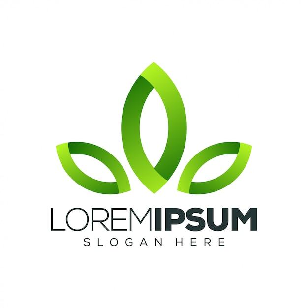 Liść Logo Projekt Ilustracji Wektorowych Premium Wektorów