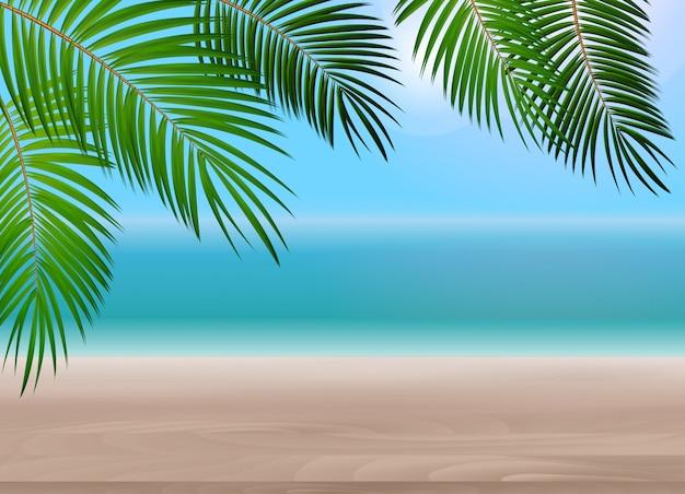 Liść palmowy tła wektorowa ilustracja Premium Wektorów