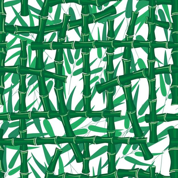 Liście Oddziałów łodygi Bambusa Wzór Tekstury Na Białym Tle Premium Wektorów
