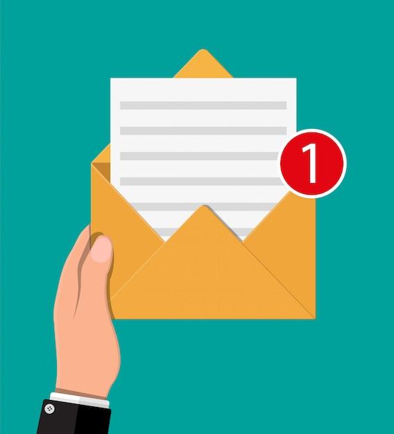 List Koperty Papierowej Z Roszczeniem Wzajemnym. Premium Wektorów