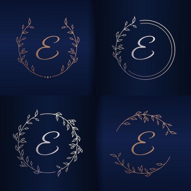 List Z Szablonu Logo Kwiatowy Ramki Premium Wektorów