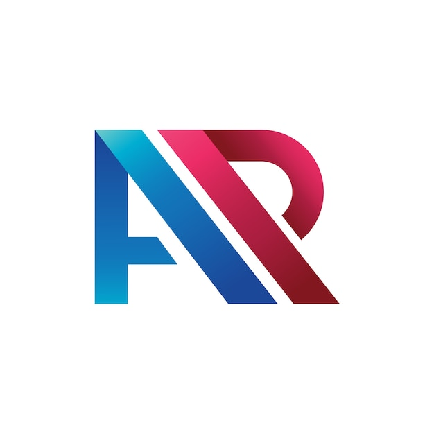 Litera a + r logo wektor, a + p logo wektor Premium Wektorów