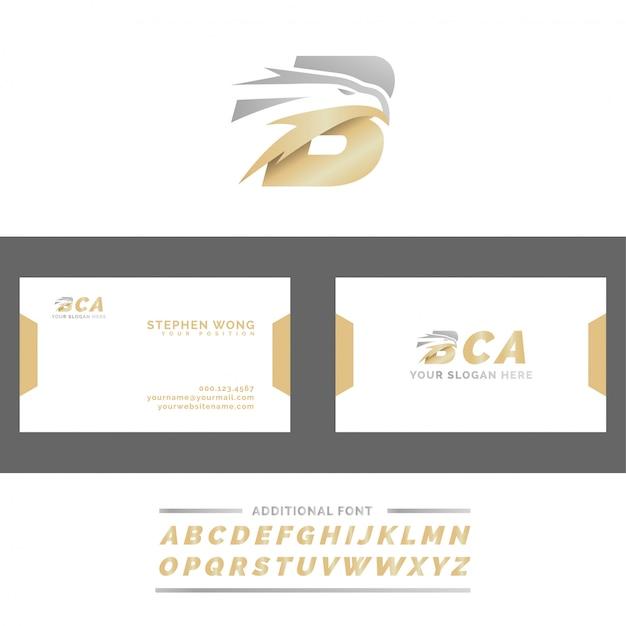 Litera b logo szefa orła Premium Wektorów