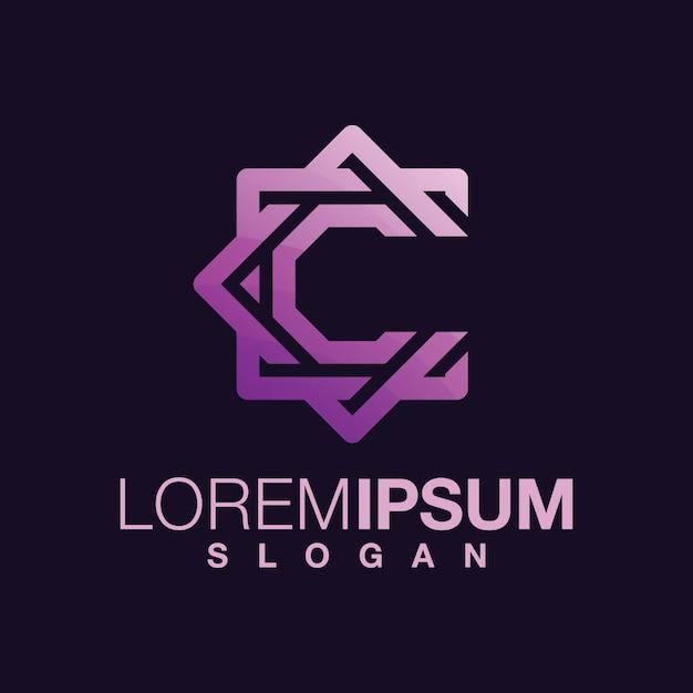 Litera C Projekt Logo W Kolorze Gradientu Premium Wektorów