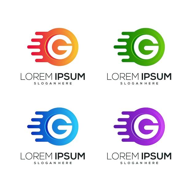 Litera g logo ikona biznes Premium Wektorów