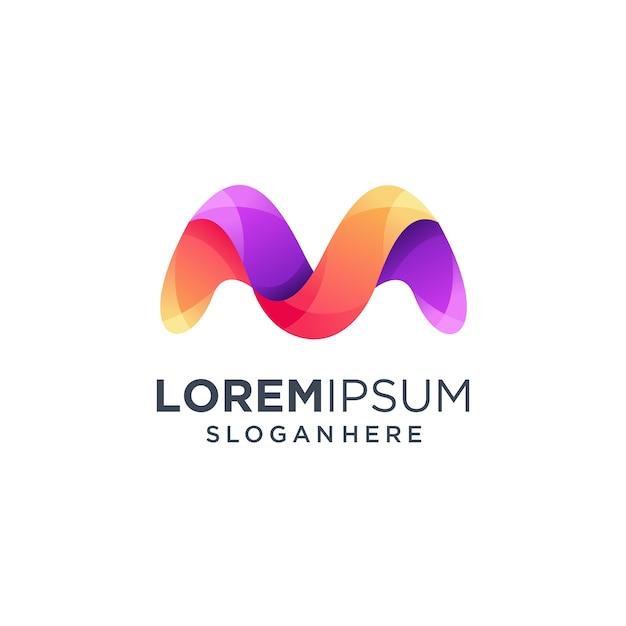 Litera m logo, nowoczesny monogram Premium Wektorów