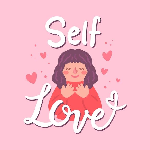 Literowanie Własnej Miłości Darmowych Wektorów
