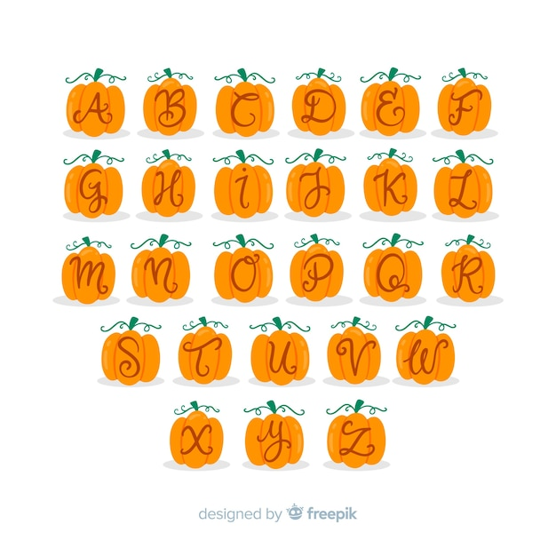 Litery alfabetu halloween Darmowych Wektorów