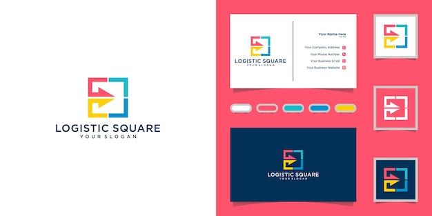 Logistyczne Logo Abstrakcyjne Ze Strzałkami I Inspiracją Do Wizytówek Premium Wektorów
