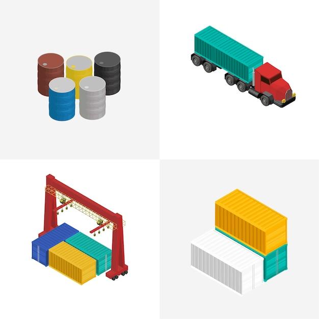 Logistyka Biznesowa Przemysłowa Odosobniona Ikona Na Tle Darmowych Wektorów