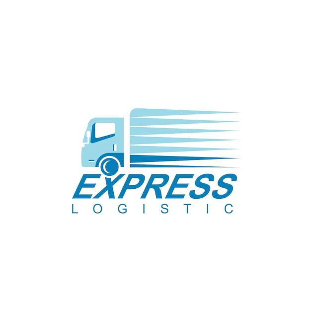 Logistyka Ciężarówka Logo Projekt Wektor Premium Wektorów