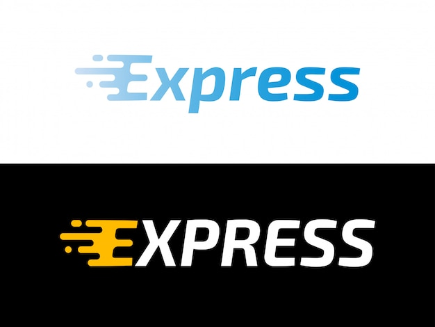 Logistyka Transportowa Logo Ekspresowej Dostawy Premium Wektorów