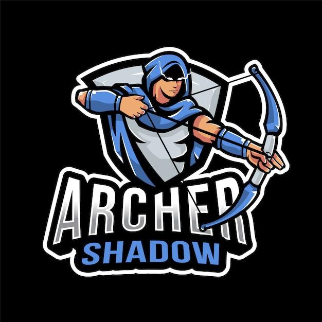 Logo Archer Shadow Esport Premium Wektorów