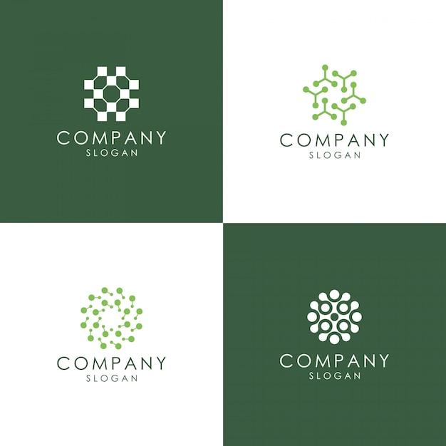 Logo atomu Premium Wektorów