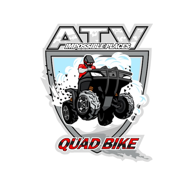 Logo Atv Quad Premium Wektorów