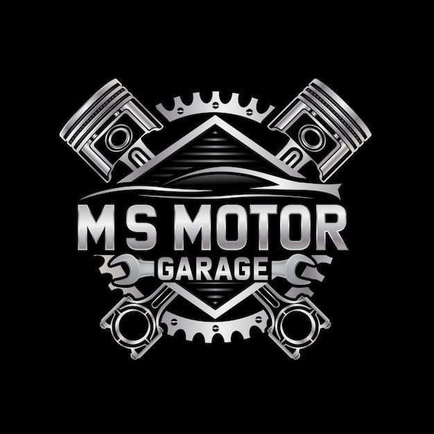 Logo auto naprawy samochodów Premium Wektorów