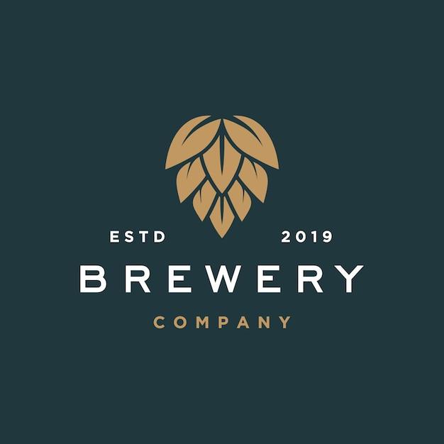 Logo browaru piwnego Premium Wektorów