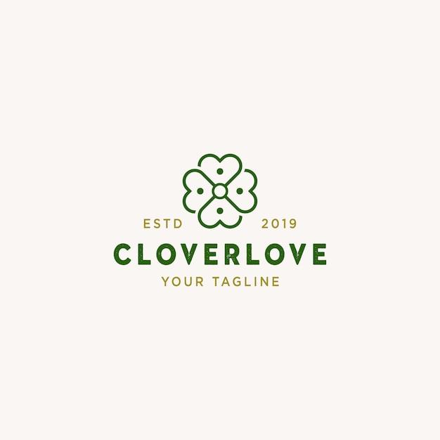 Logo Cloverlove Premium Wektorów