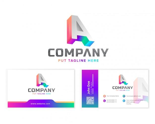 Logo Creative Letter A Dla Firmy Premium Wektorów