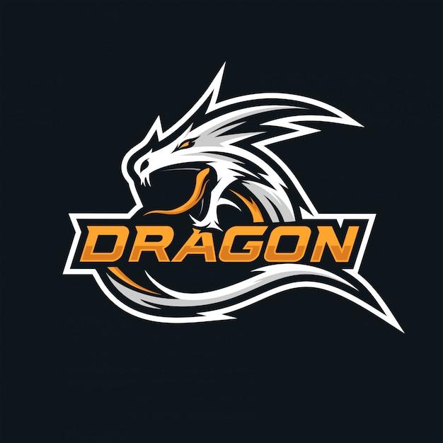 Logo Dragon Esport Premium Wektorów