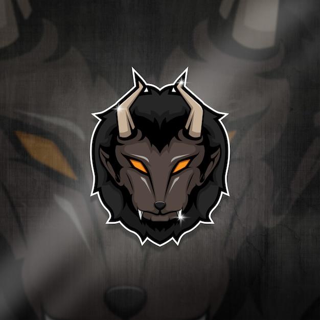 Logo Drużyny Esports Maskotka Beast Squad Premium Wektorów