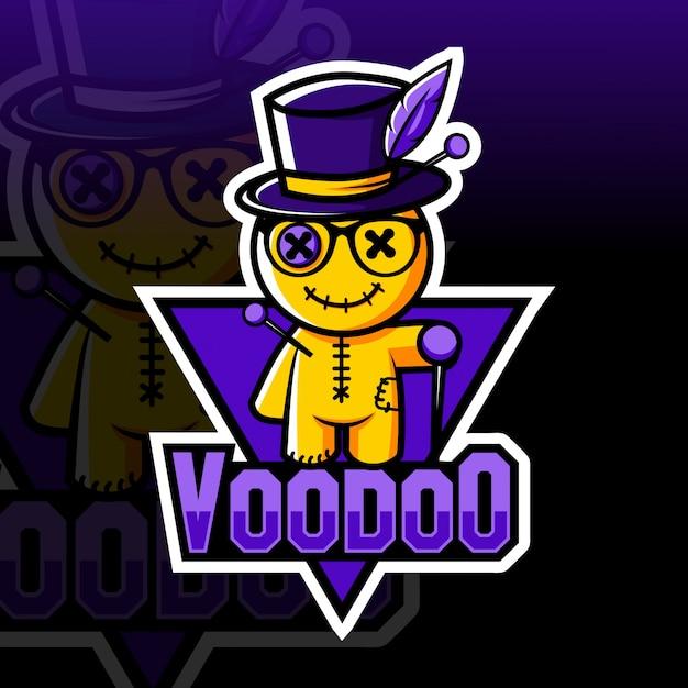 Logo E-sport Maskotka Voodoo Premium Wektorów