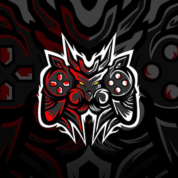 Logo E-sportowe Maskotka Gaming Monsters Premium Wektorów