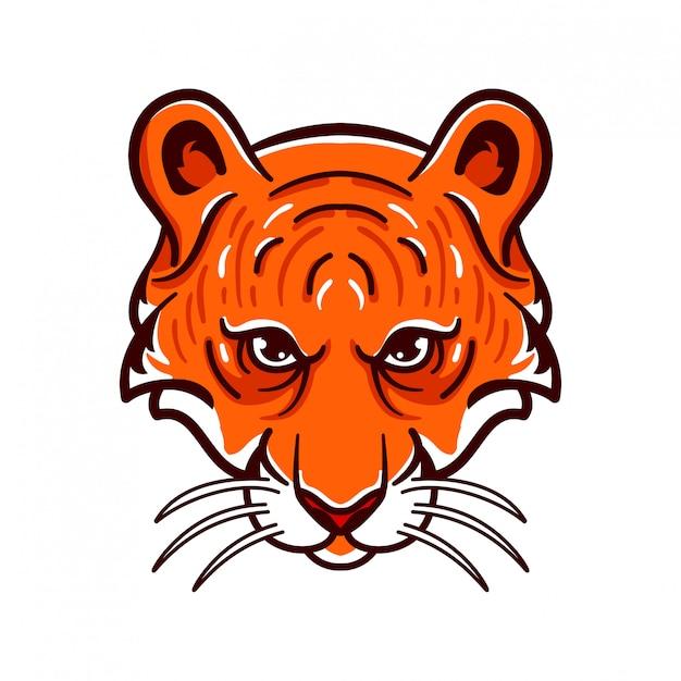 Logo E-sportowego Stylu Tiger Angry Animals Premium Wektorów