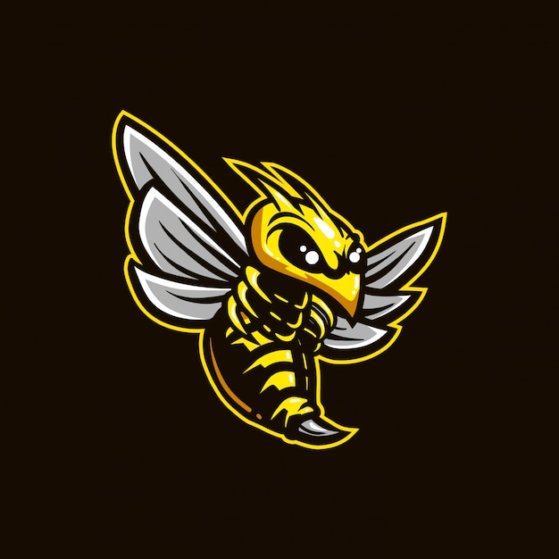 Logo E-sportu Dla Pszczół Premium Wektorów