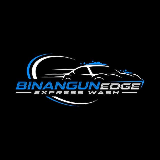 Logo Ekspresowej Myjni Samochodowej Premium Wektorów
