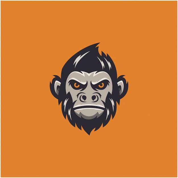 Logo esportu małpy Premium Wektorów