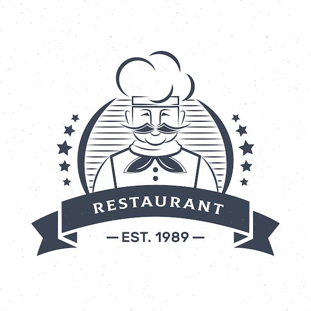 Logo Firmy Firmy Retro Szef Kuchni Restauracji Darmowych Wektorów