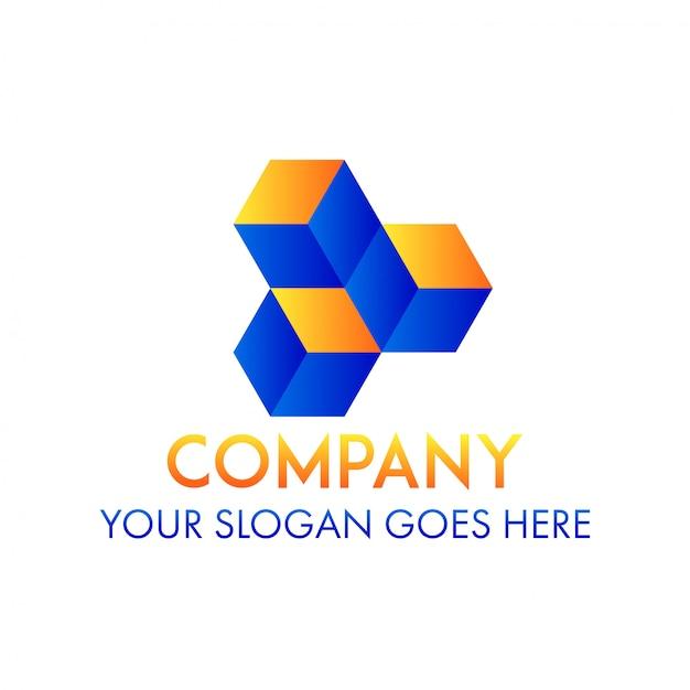 Logo Firmy Sześcianu Premium Wektorów