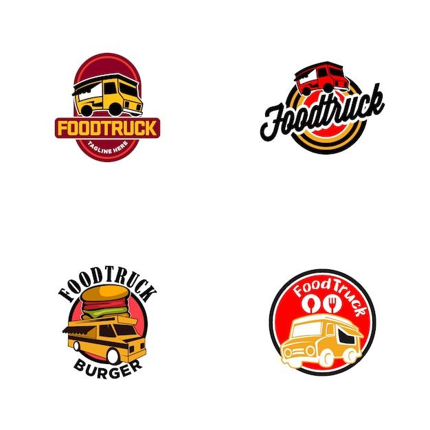 Logo food truck Premium Wektorów