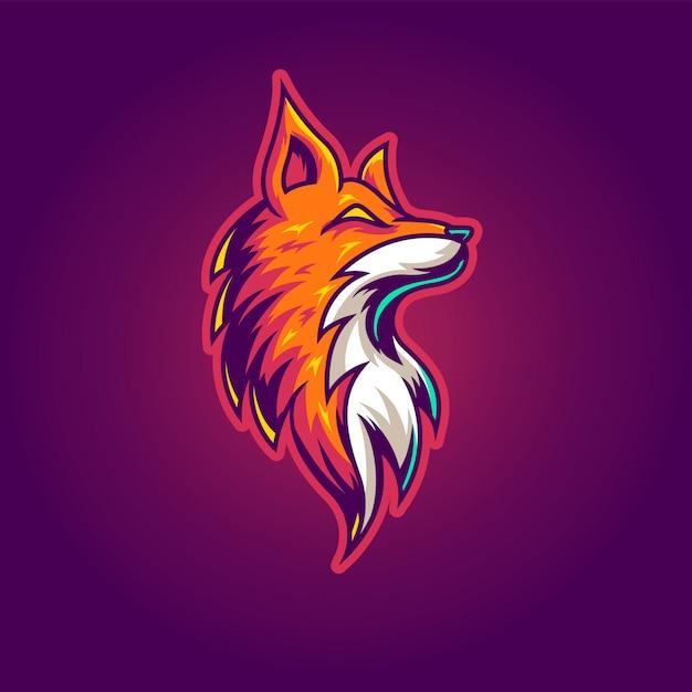 Logo gier esportowych fox Premium Wektorów