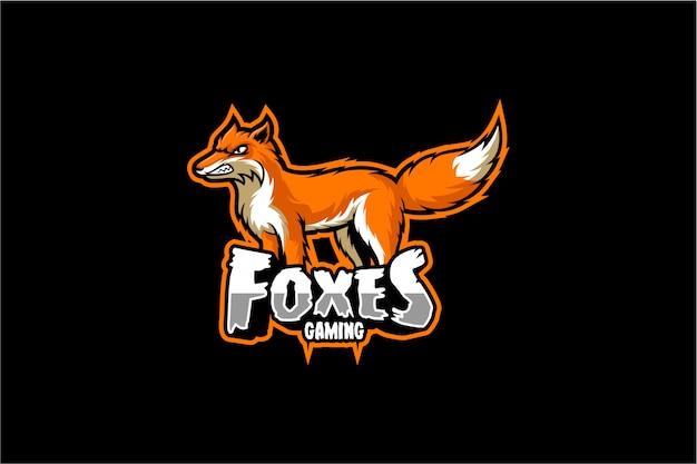 Logo Gier Fox Premium Wektorów