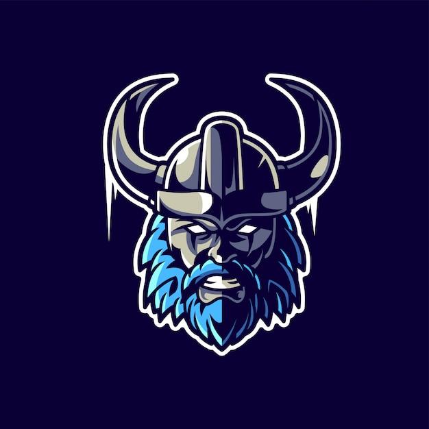 Logo gier viking esport Premium Wektorów