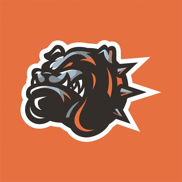 Logo Głowicy Maskotki Bulldog Premium Wektorów