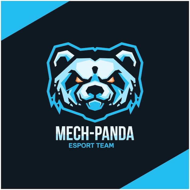 Logo Głowy Pandy Dla Drużyny Sportowej Lub Esportowej. Premium Wektorów
